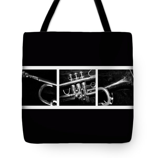 Trumpet Triptych Tote Bag by Photographic Arts And Design Studio