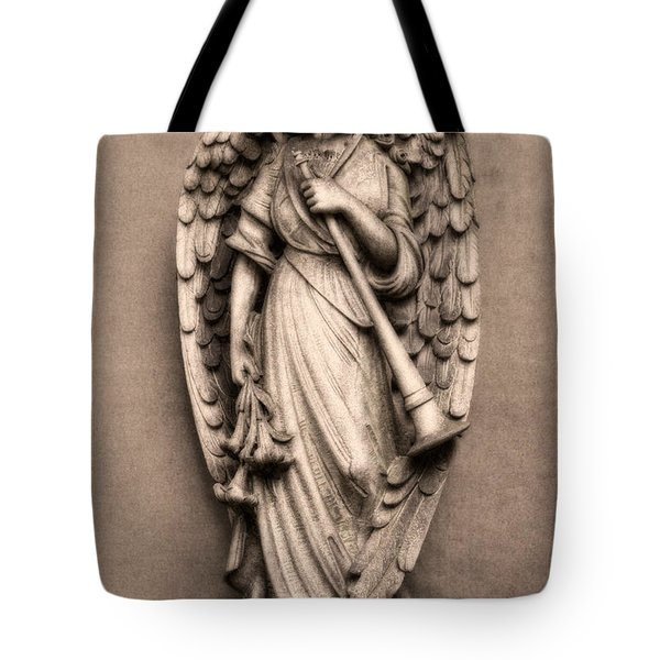 Trumpeter Angel Tote Bag by Tom Mc Nemar