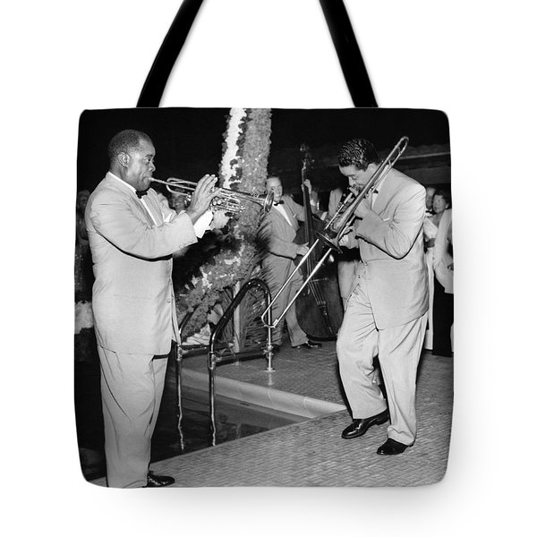 Trumpeter Louis Armstrong Tote Bag