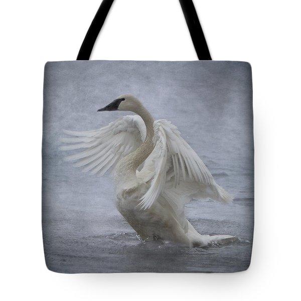 Trumpeter Swan - Misty Display Tote Bag