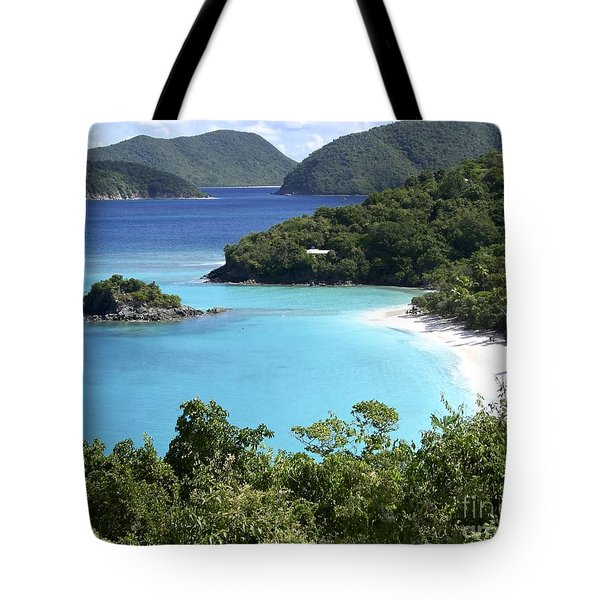 Tote Bag featuring the photograph Trunk Bay II by Carol  Bradley