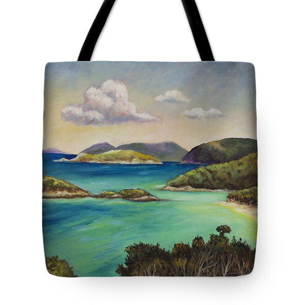 Trunk Bay Overlook Tote Bag by Eve  Wheeler