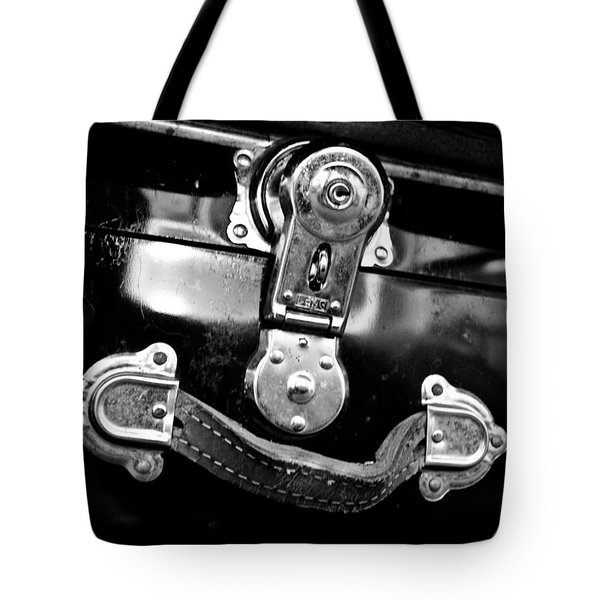 Tote Bag featuring the photograph Trunk Latch by Adria Trail