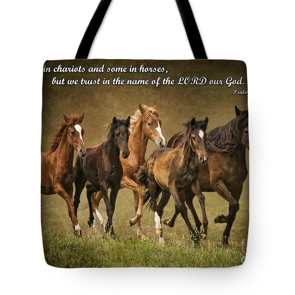Trust In The Name Of The Lord Tote Bag
