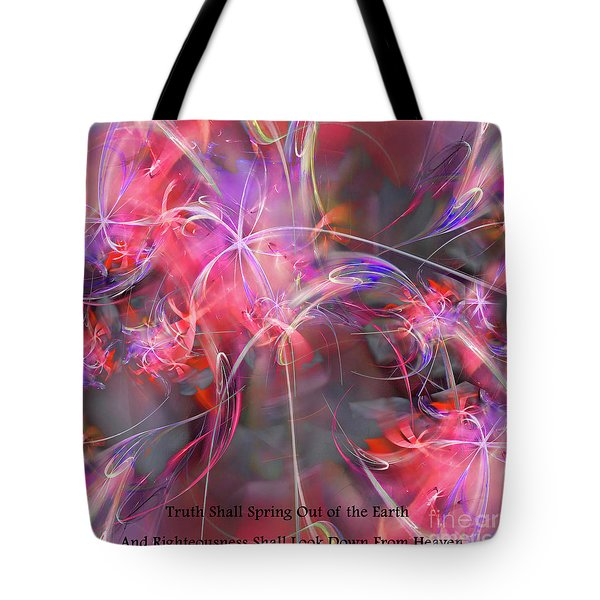 Tote Bag featuring the digital art Truth Shall Spring Out by Margie Chapman