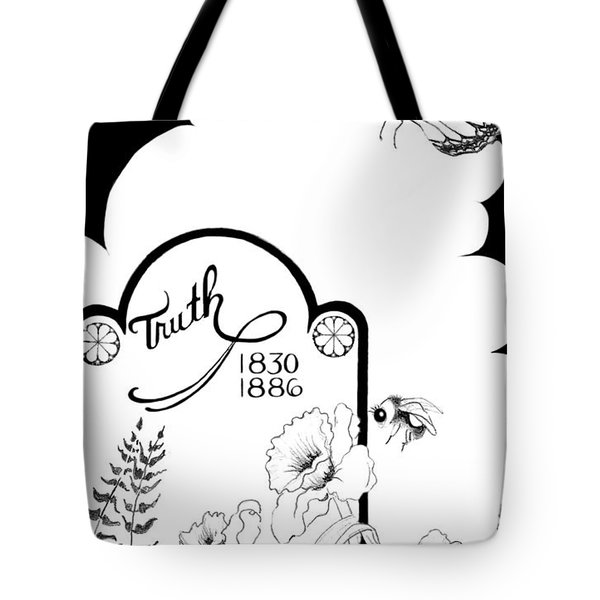 Tote Bag featuring the digital art Truth Time by Carol Jacobs