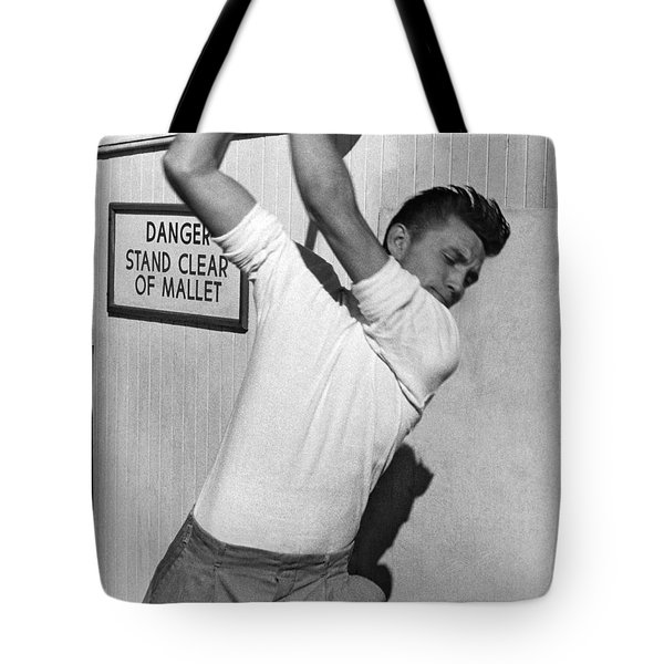 Trying To Ring The Bell Tote Bag