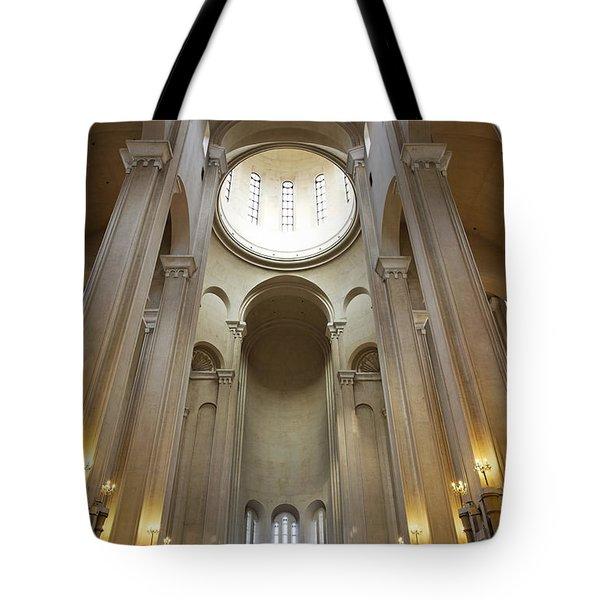 Tsminda Sameba Cathedral Interior Tbilisi Georgia Tote Bag by Robert Preston