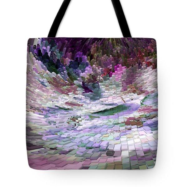 Tote Bag featuring the digital art Tsunami by Liz  Alderdice