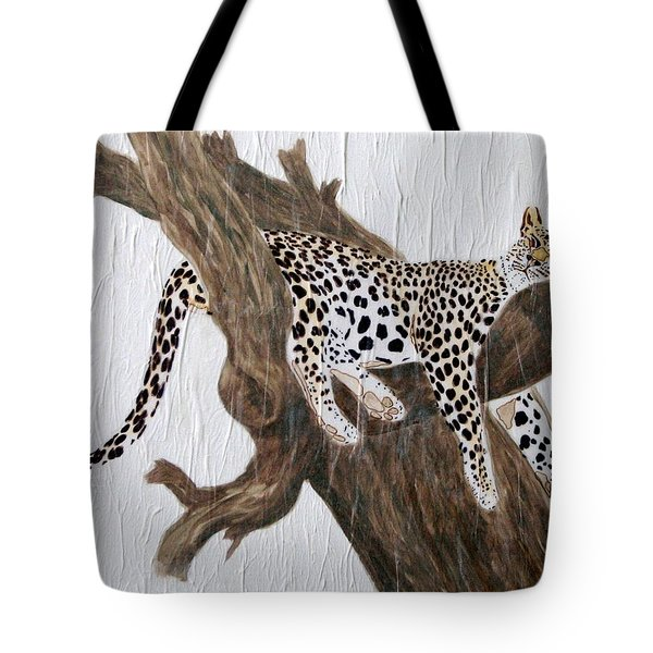 Tote Bag featuring the painting Tuckered Out by Stephanie Grant