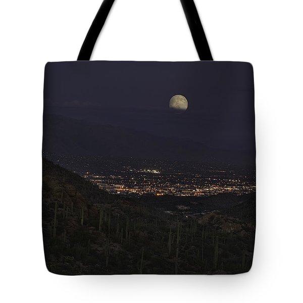 Tucson At Dusk Tote Bag