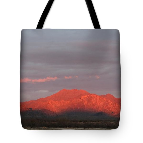 Tote Bag featuring the photograph Tucson Mountains by David S Reynolds