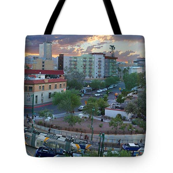 Tucson Streetcar Sunset Tote Bag