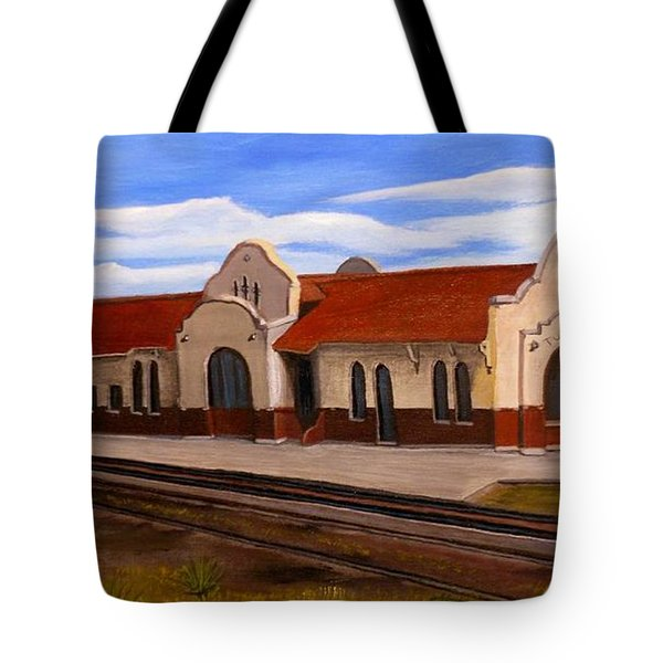 Tucumcari Train Depot Tote Bag by Sheri Keith