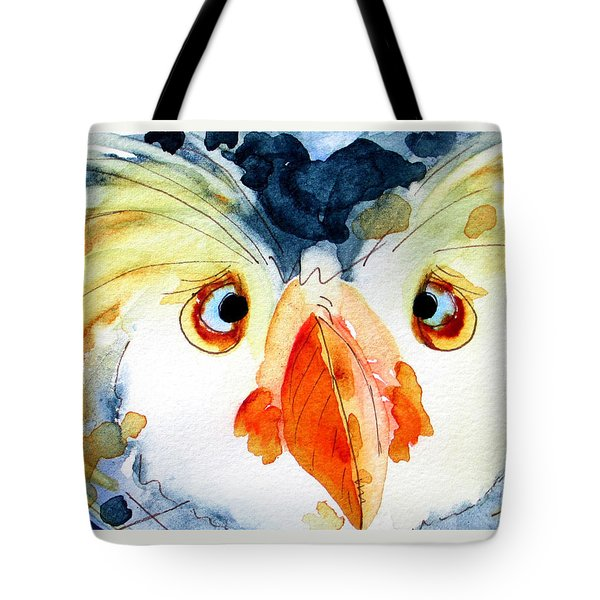 Tufted Puffin Tote Bag by Dawn Derman