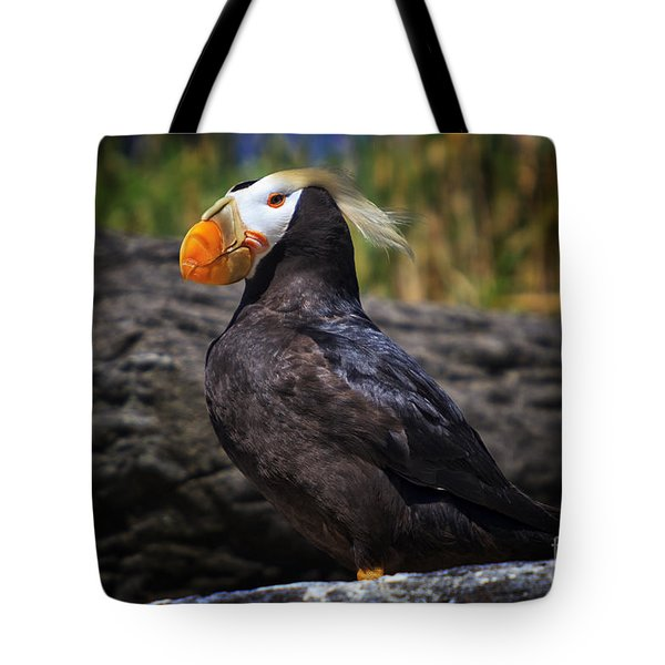 Tufted Puffin Tote Bag by Mark Kiver