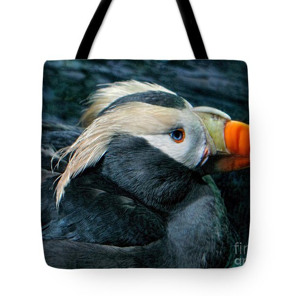 Tufted Puffin Profile Tote Bag