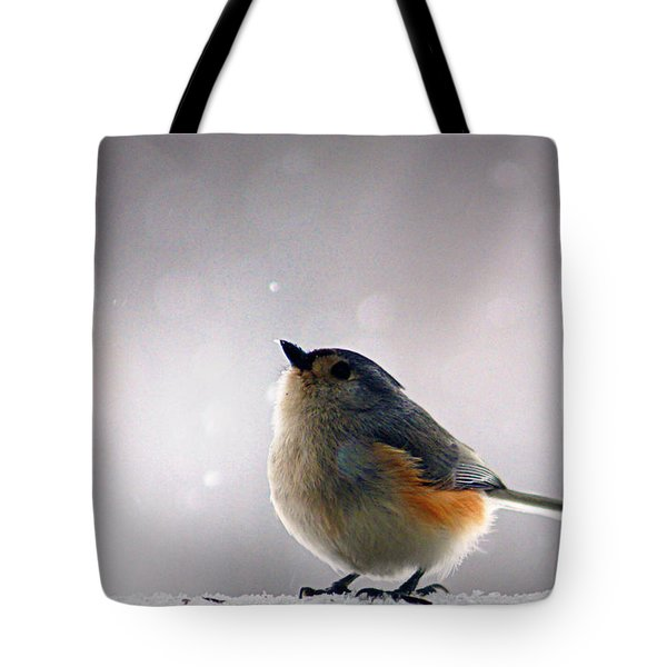 Tufted Titmouse Tote Bag by Cricket Hackmann
