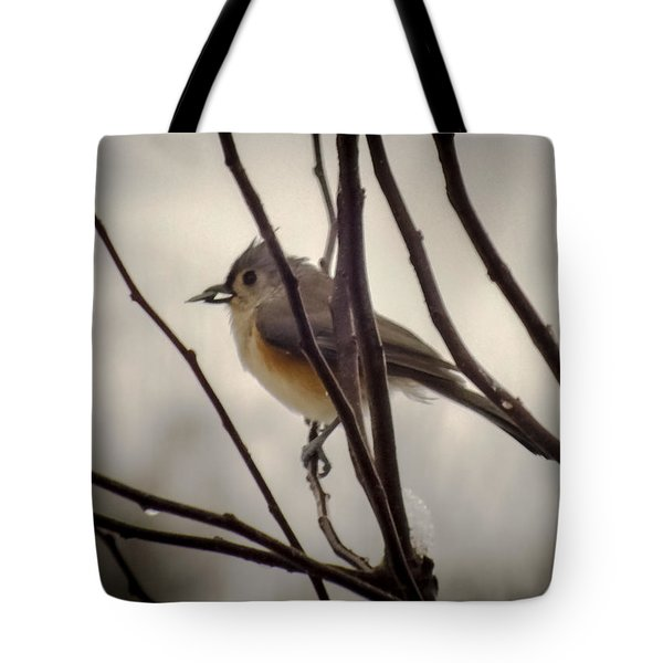 Tufted Titmouse Tote Bag by Karen Wiles