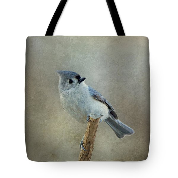 Tufted Titmouse Watching Tote Bag