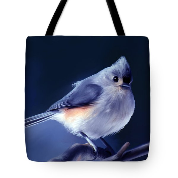 Tufty The Titmouse Tote Bag by Pennie  McCracken