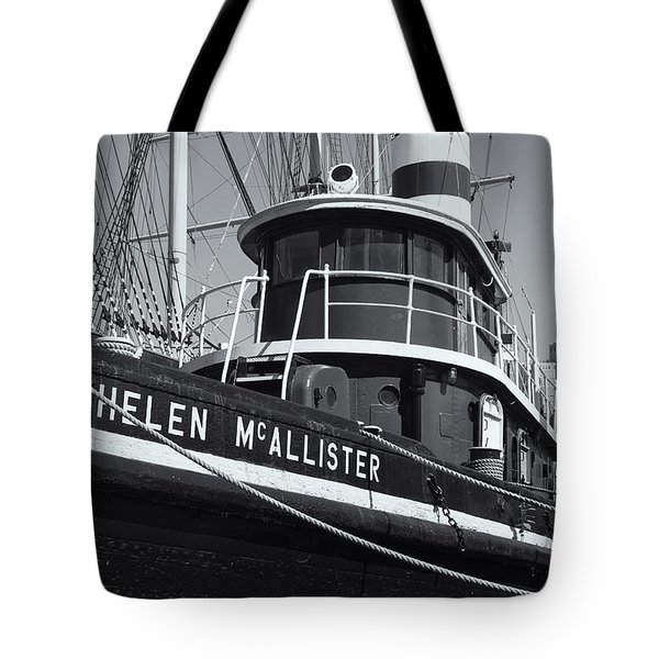 Tugboat Helen Mcallister II Tote Bag by Clarence Holmes