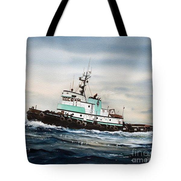 Tugboat Island Champion Tote Bag by James Williamson