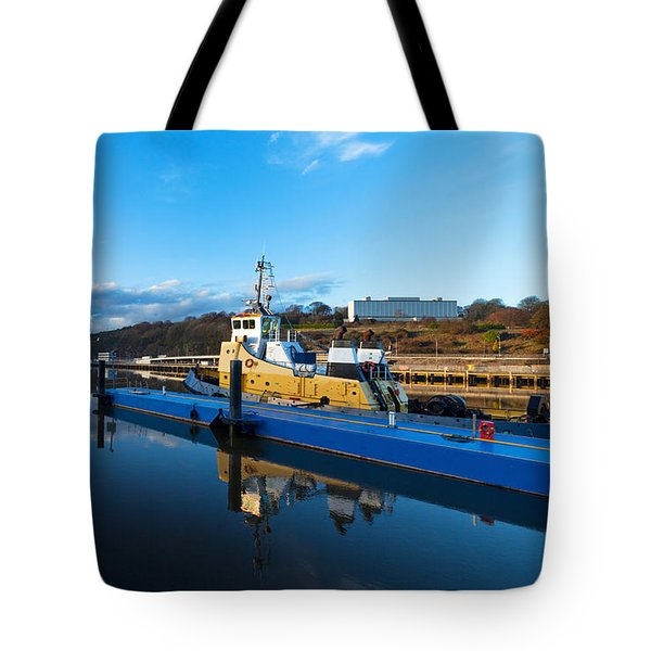 Tugboat Moored At The River Suir Tote Bag