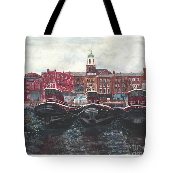 Tugboats Of Portsmouth Tote Bag