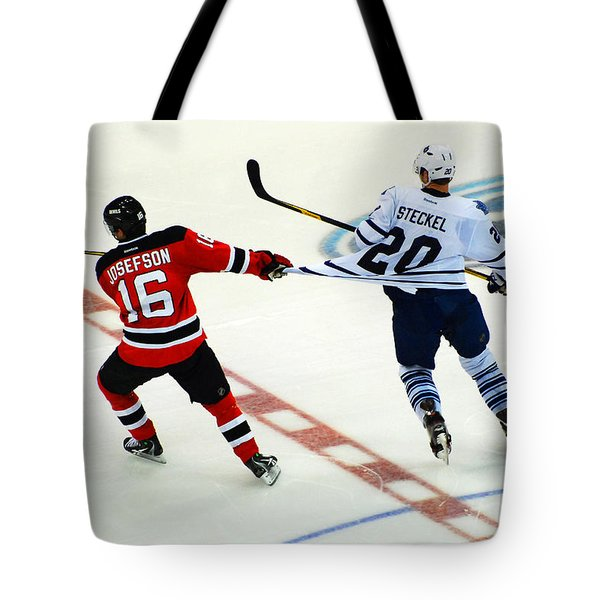 Tugging On The Jersey Tote Bag