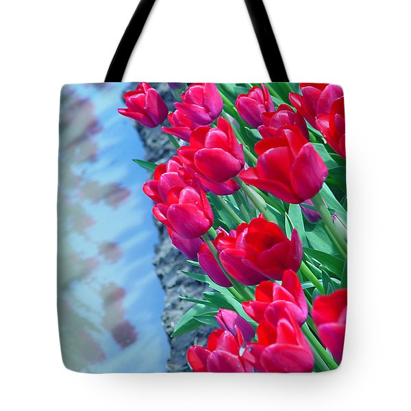 Tuip Reflections Tote Bag by John Bushnell