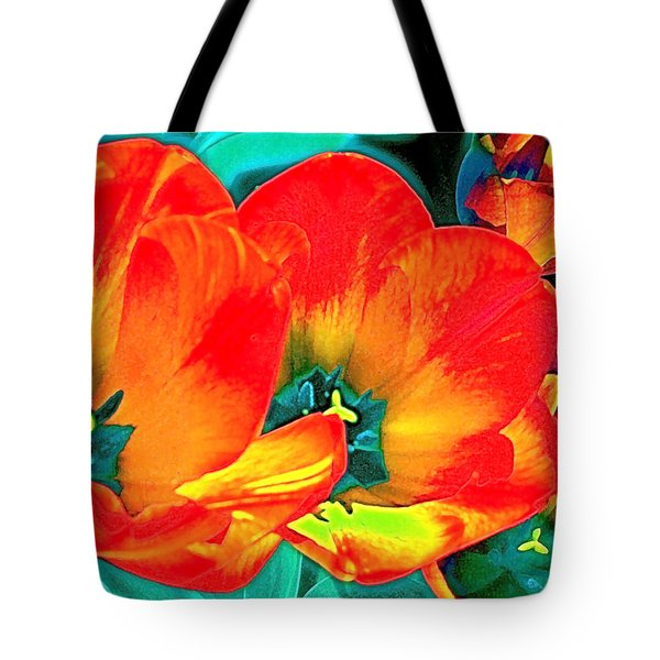 Tote Bag featuring the photograph Tulip 1 by Pamela Cooper