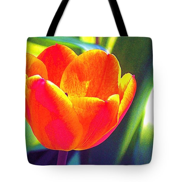 Tote Bag featuring the photograph Tulip 2 by Pamela Cooper