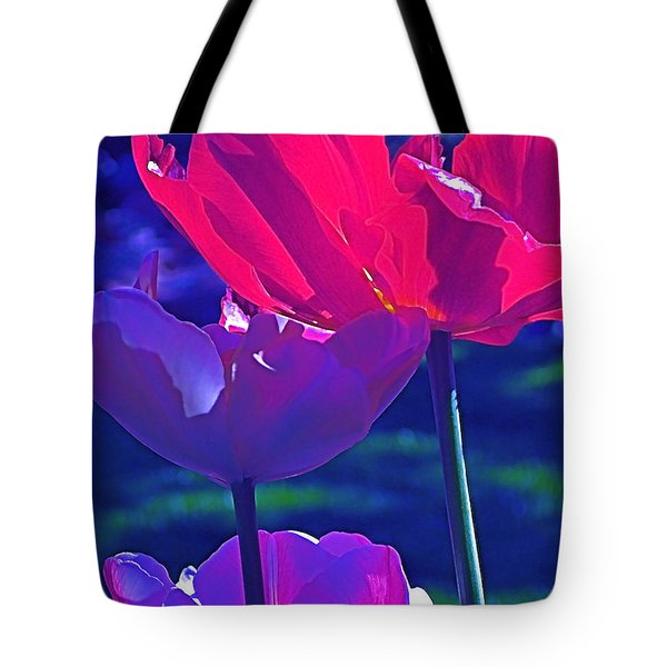 Tote Bag featuring the photograph Tulip 3 by Pamela Cooper