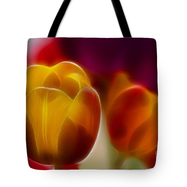 Tulip-7016-fractal Tote Bag by Gary Gingrich Galleries