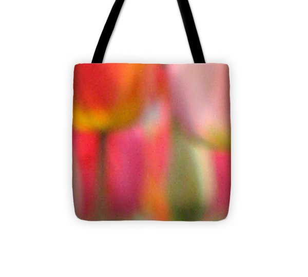 Tulip Abstract Tote Bag by Angela Davies
