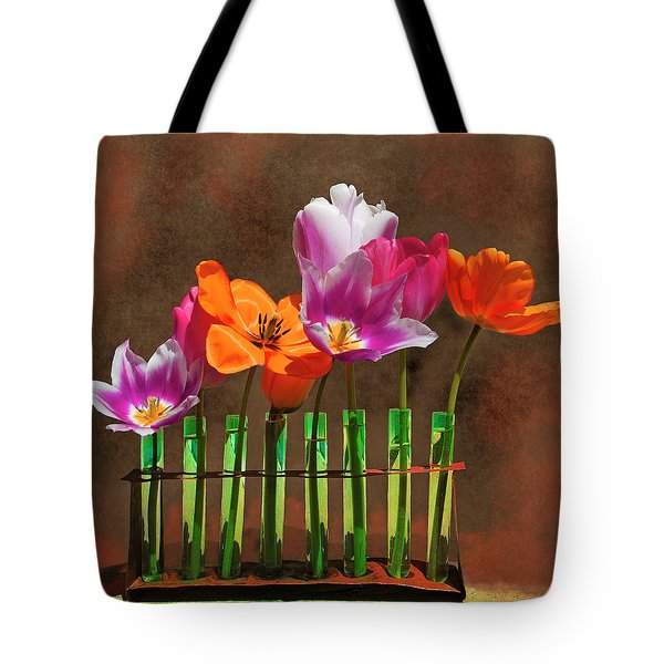 Tulip Experiments Tote Bag by Jeff Burgess