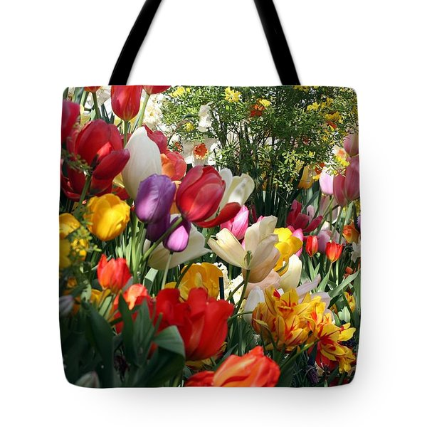 Tote Bag featuring the photograph Tulip Festival by Mary Lou Chmura