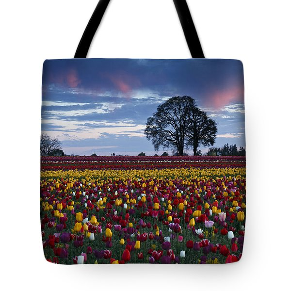Tulip Field's Last Colors Tote Bag by Wes and Dotty Weber