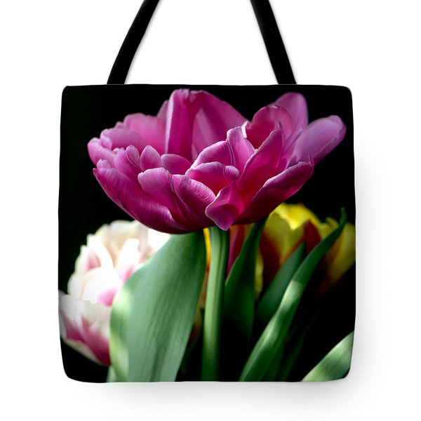 Tulip For Easter Tote Bag by Sharon Talson