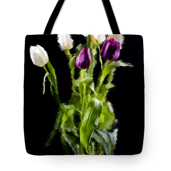 Tote Bag featuring the photograph Tulip Impressions II by Penny Lisowski