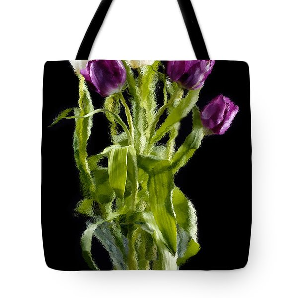 Tote Bag featuring the photograph Tulip Impressions IIi by Penny Lisowski
