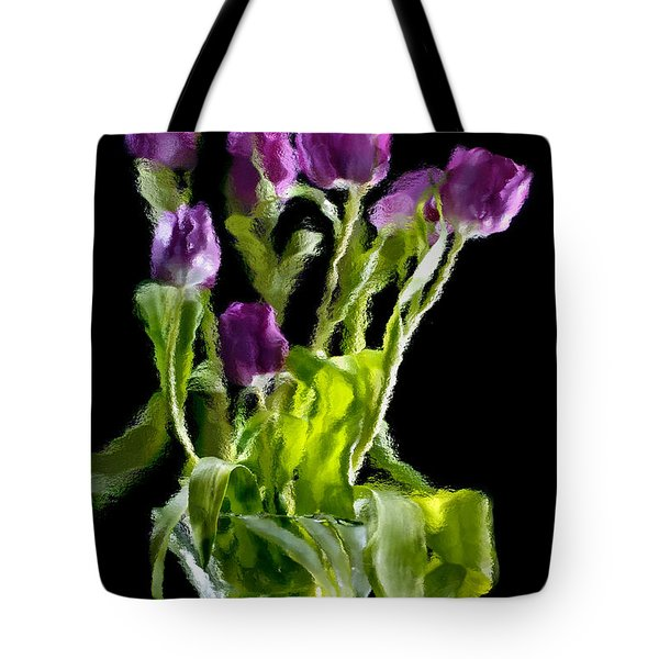 Tote Bag featuring the photograph Tulip Impressions Vi by Penny Lisowski