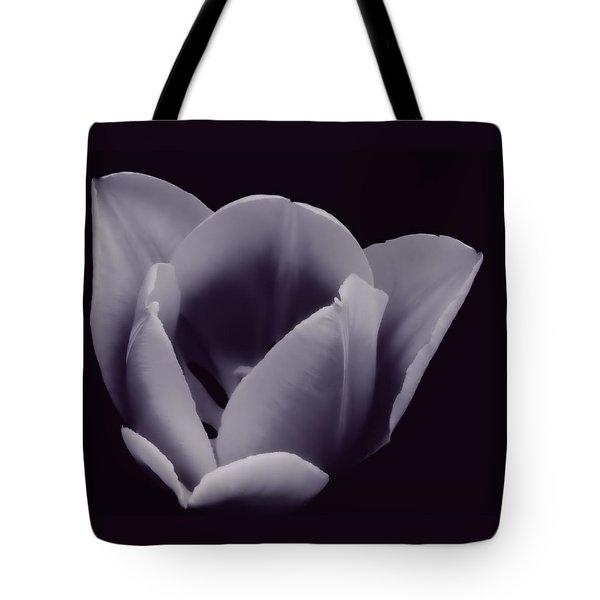 Tulip In Black And White Tote Bag