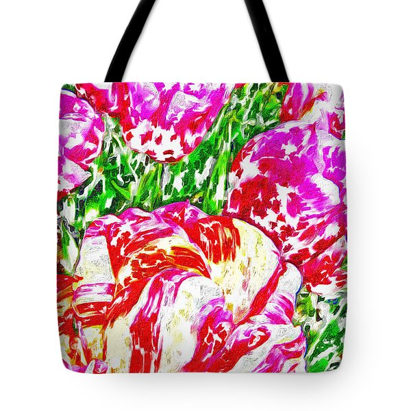 Tote Bag featuring the photograph Tulip Infusion by Zafer Gurel