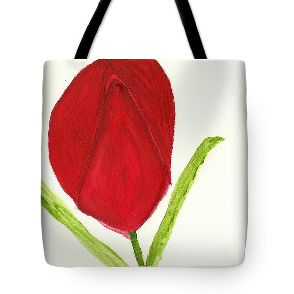 Tulip Of The Heart Tote Bag by Tracey Williams