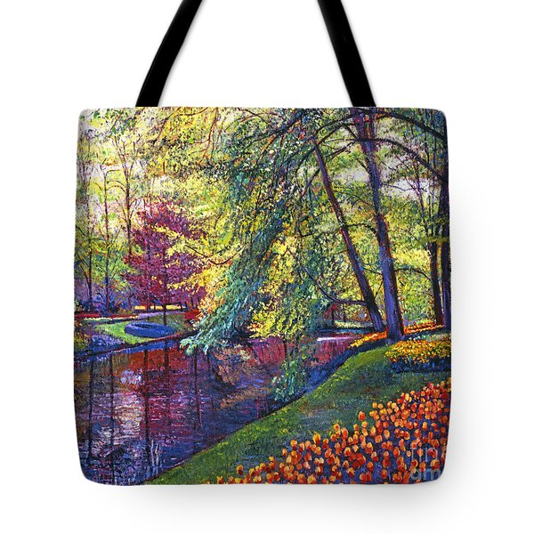 Tulip Park Tote Bag by David Lloyd Glover
