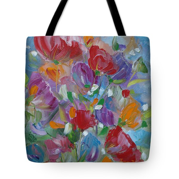 Tulip Symphony Tote Bag by Judith Rhue