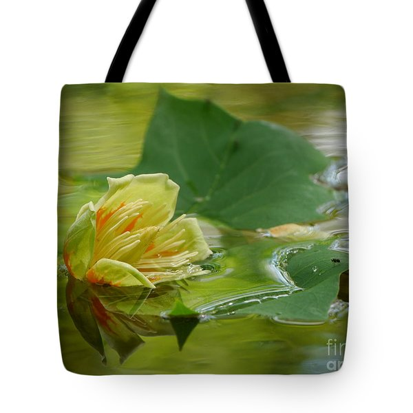 Tulip Tree Flower Tote Bag