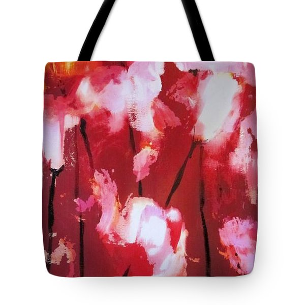 Tote Bag featuring the painting Tulip Twist by Sandra Strohschein
